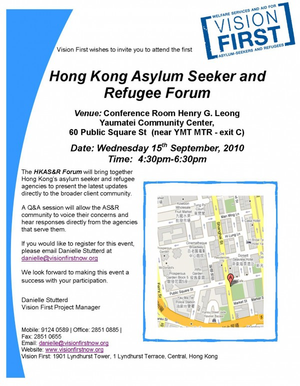 Refugee Forum flyer