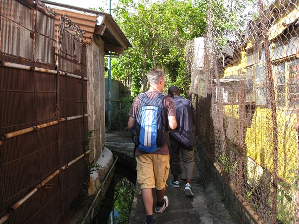 Visiting a shanty town in Yuen Long