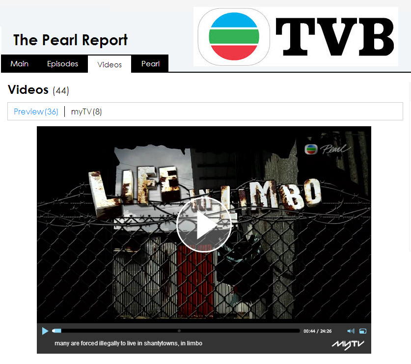TVB Pearl Report - part 1
