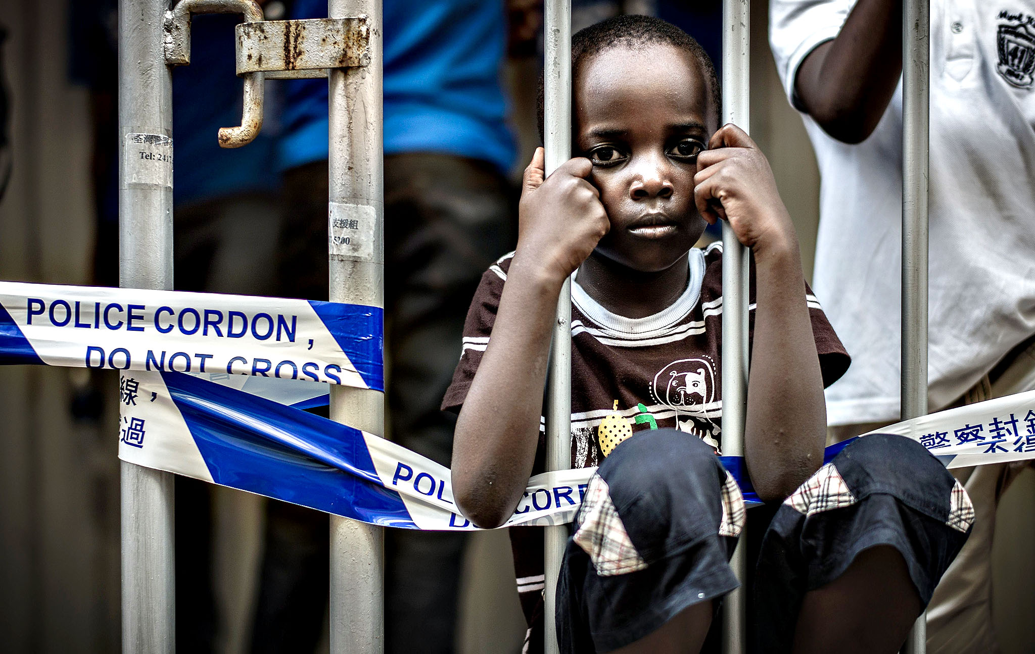 The child of refugee parents from Africa...The child of refugee