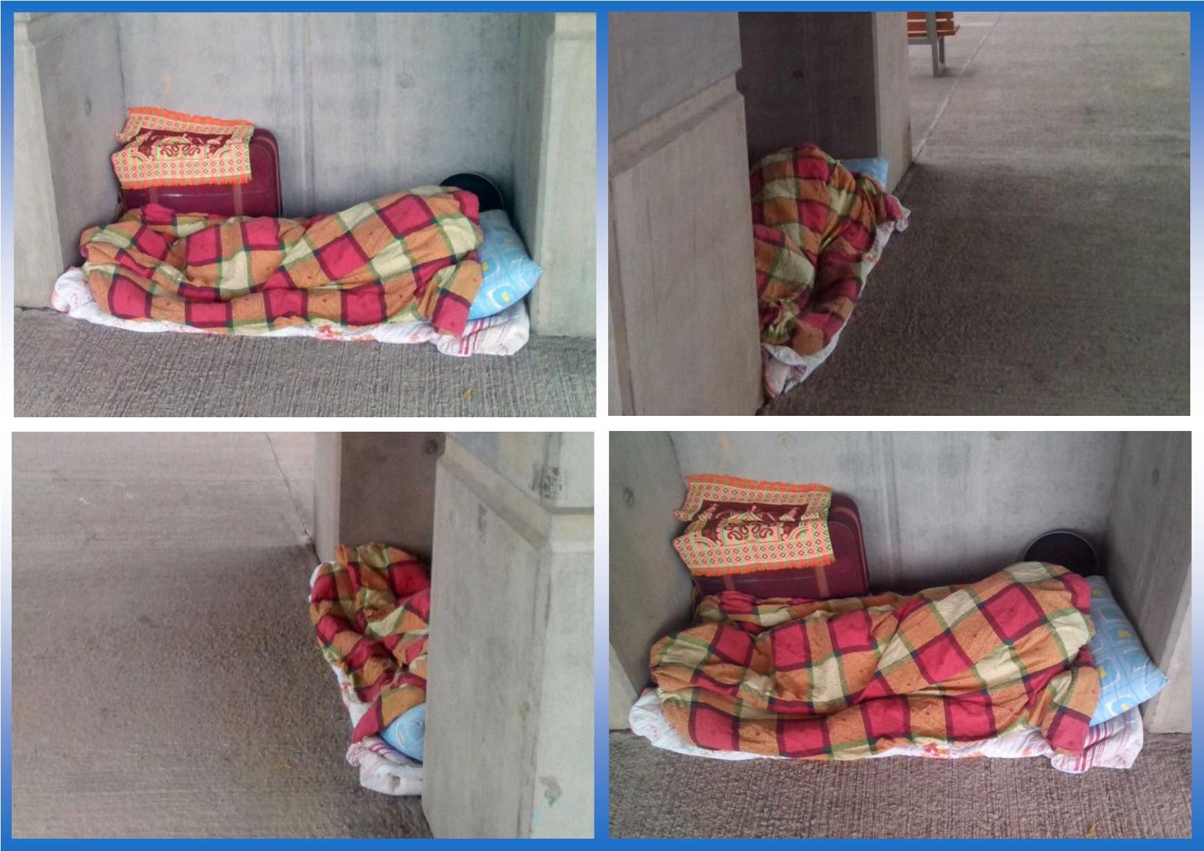 Homeless refugee in Lam Tei