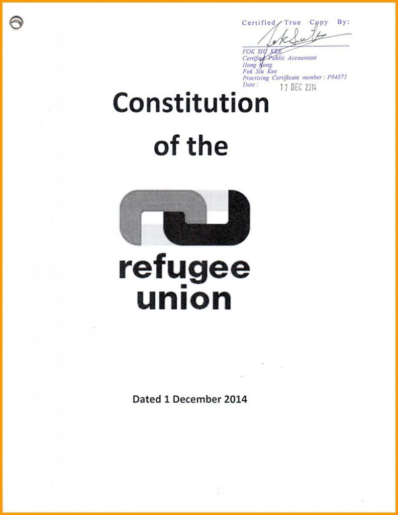 RU Constitution - certified copy