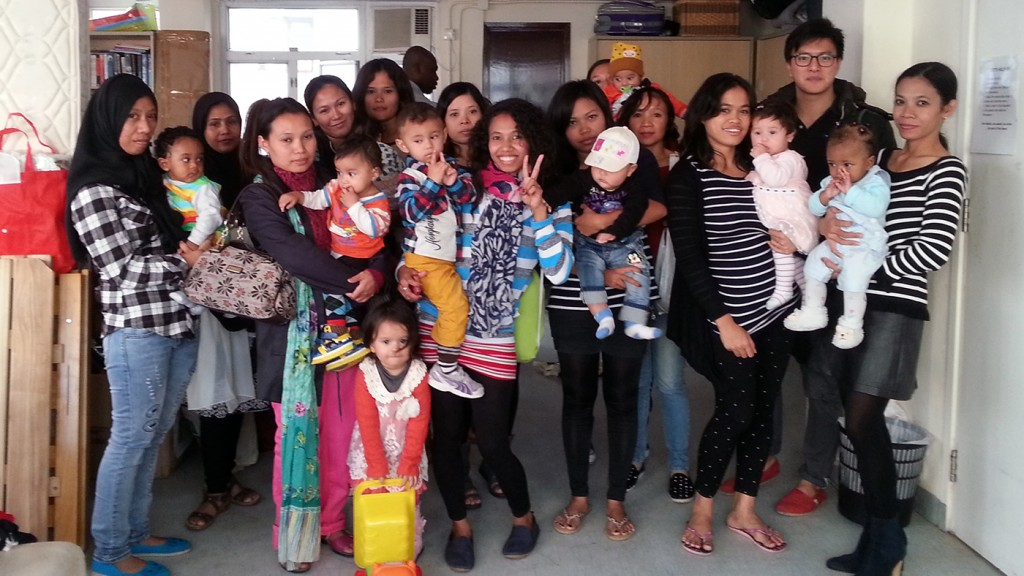 Refugee mothers speak to TVB
