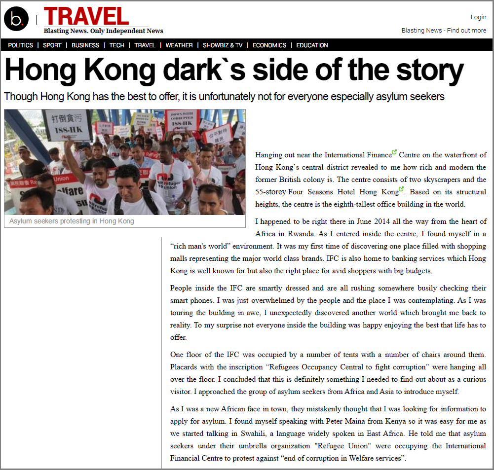 Blasting News - HK's dark side of the story