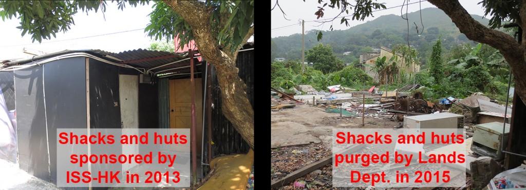 Lands Dept purges shacks sponsored by ISS-HK - 19Jan2015