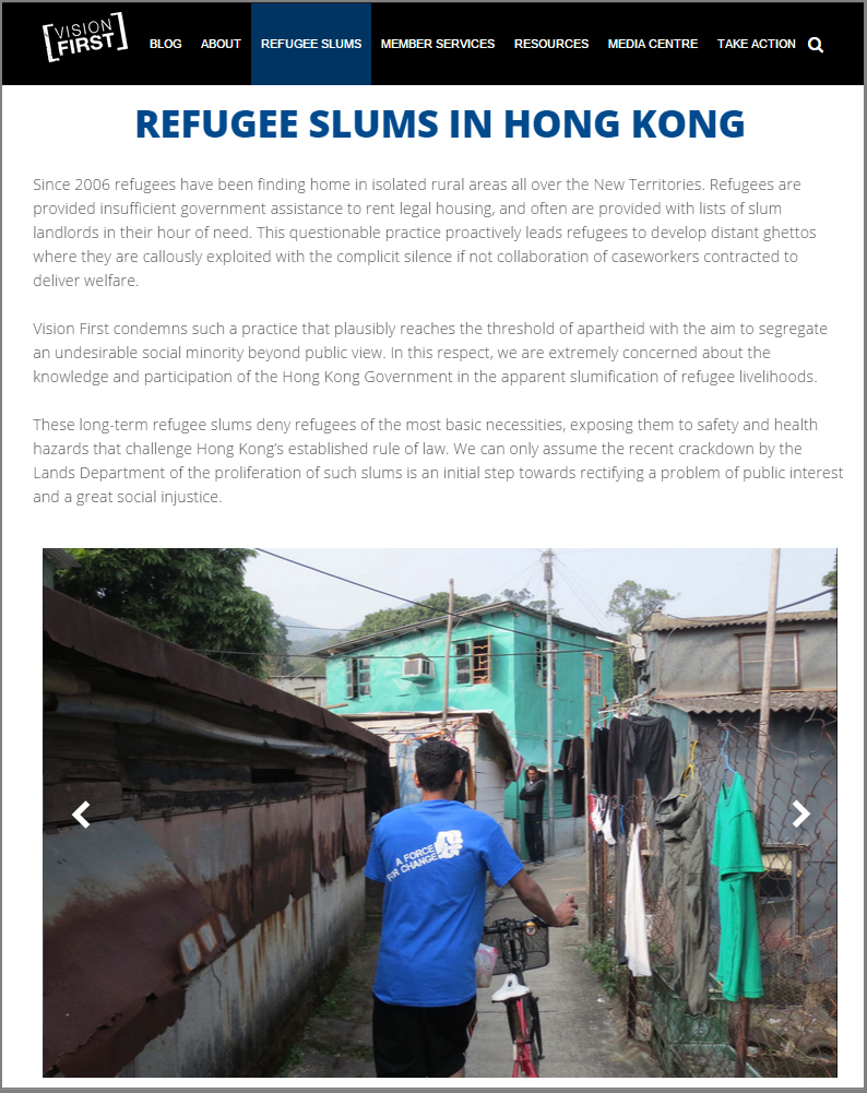 Website launches slum page