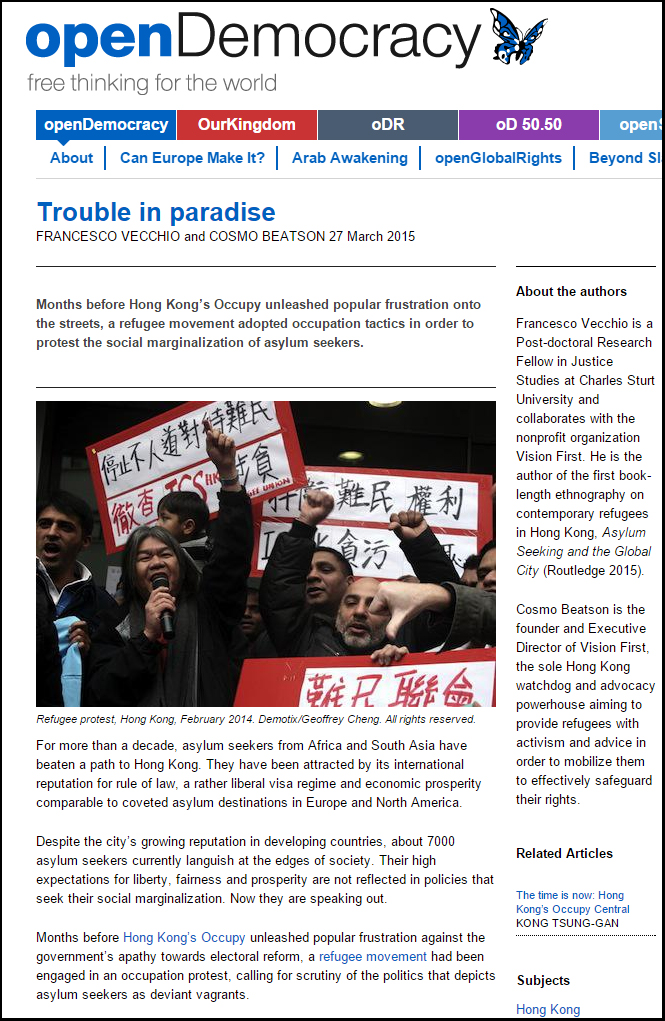 Open Democracy - Trouble in Paradise - 27Mar15