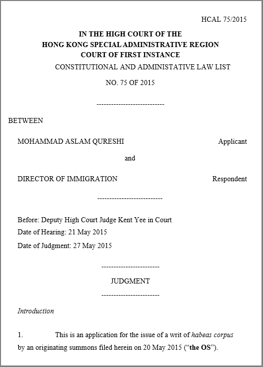 High Court judgment - HCAL 75_2015 - Qureshi