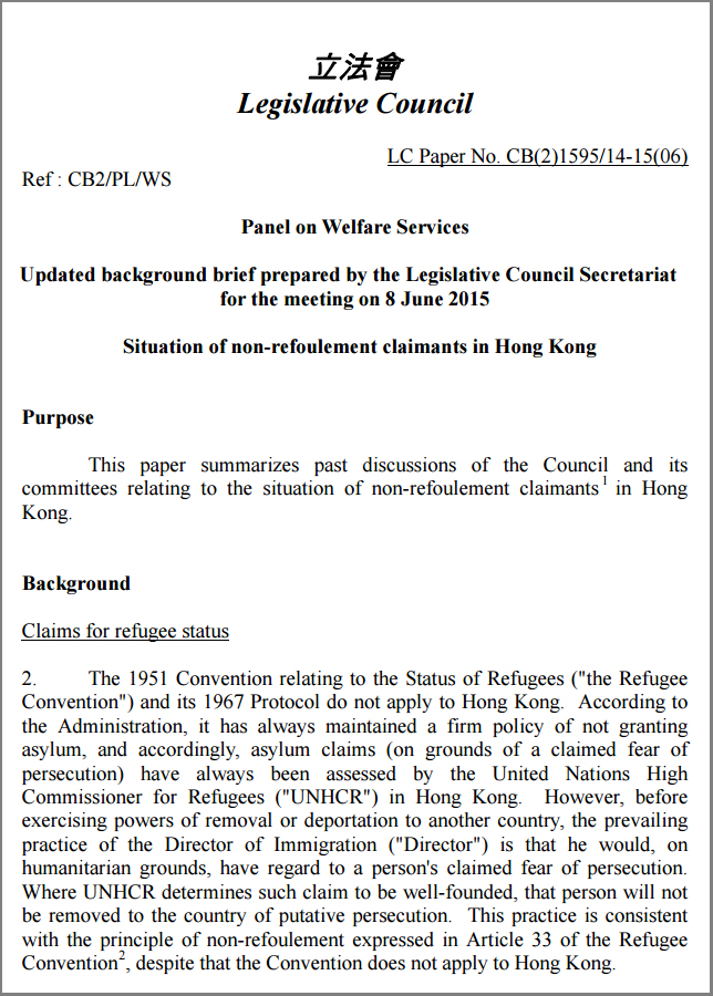 Legco background brief for welfare meeting (3Jun2015)