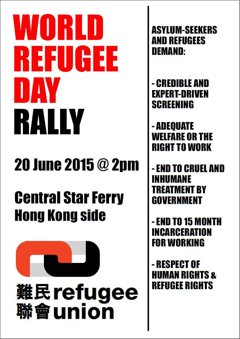 World Refugee Day 2015 rally