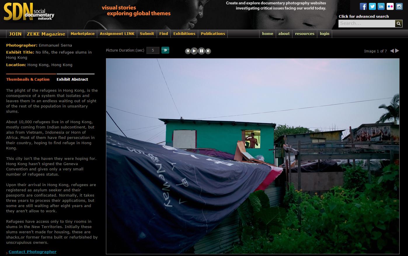 No life, the refugee slums in Hong Kong
