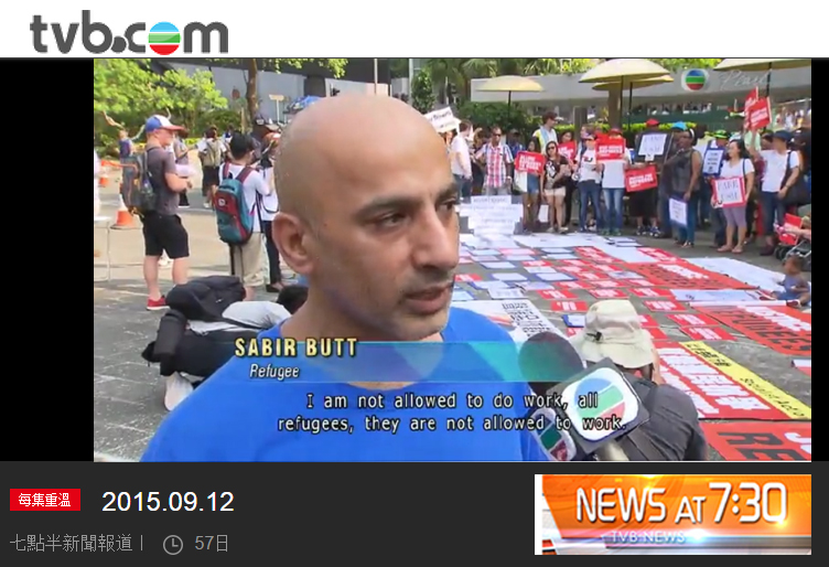 TVB Evening News on RU march to EU office (12Sep2015)