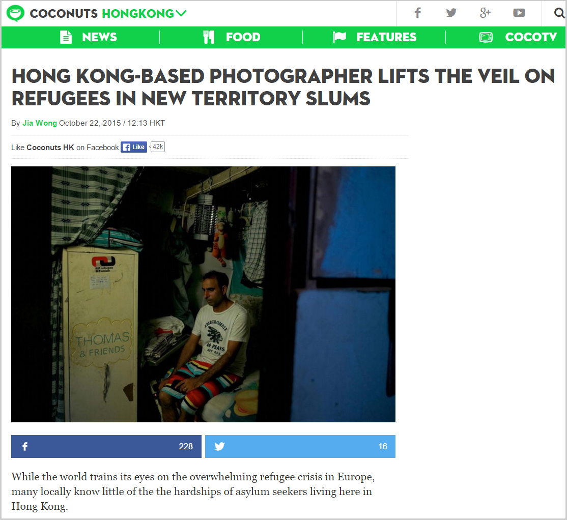 Coconuts - photographer lifts the veil on refugee slums