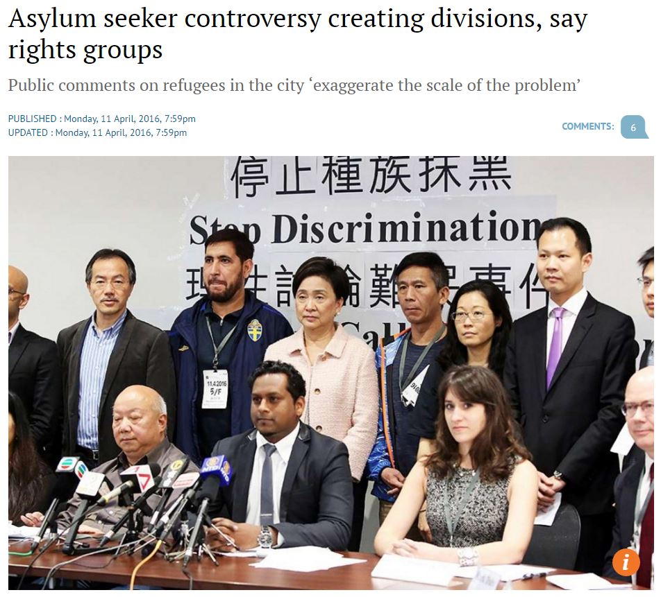 SCMP - Asylum seeker controversy creating divisions, say rights groups
