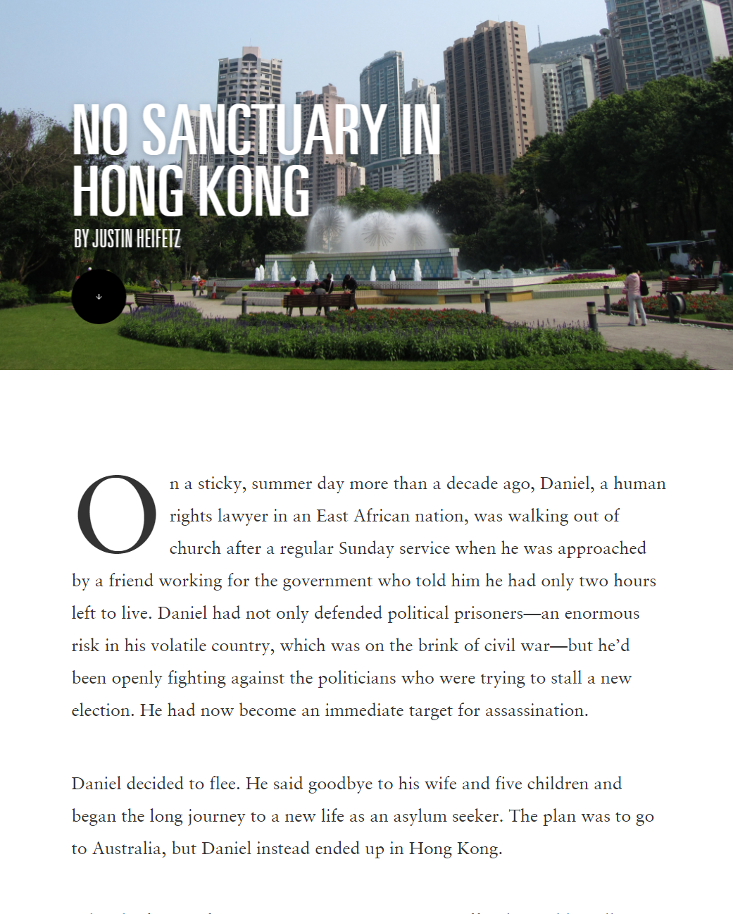No sanctuary in Hong Kong