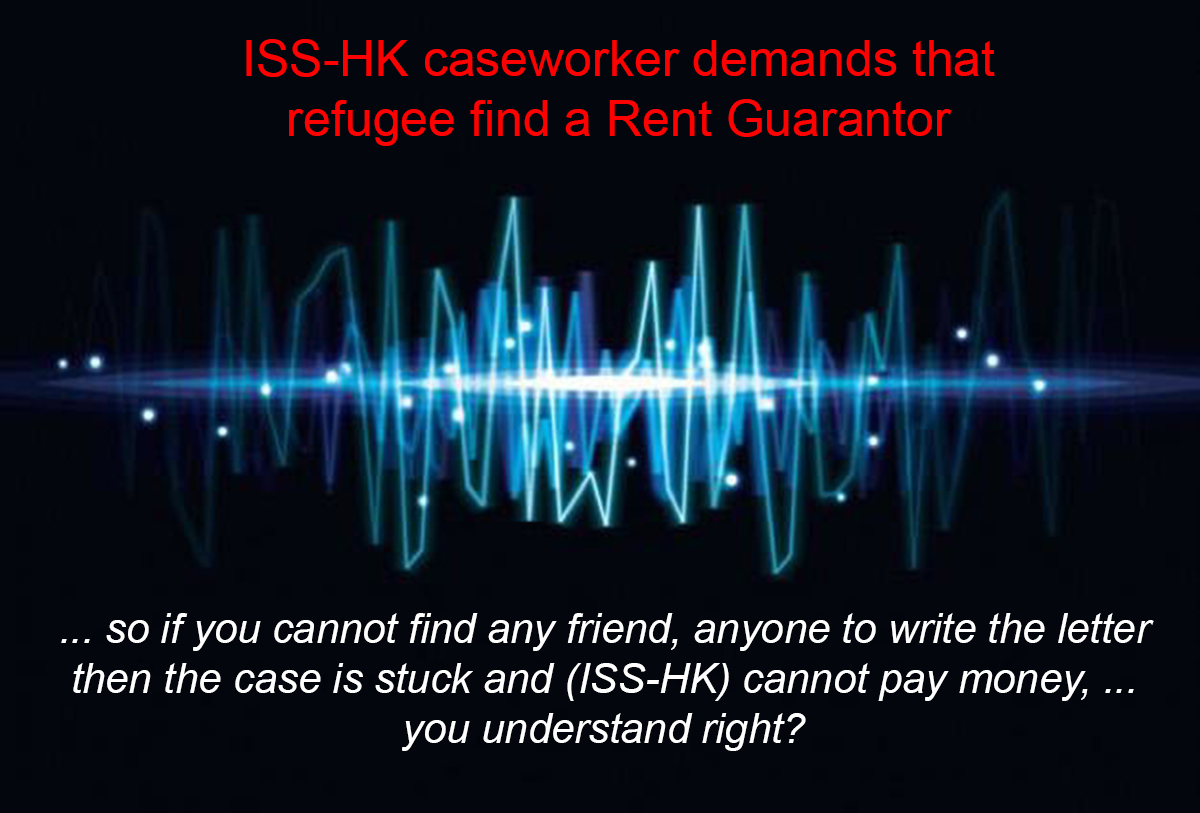 ISS-HK arbitrarily demands _friend to help with extra money_ as precondition for rental assistance
