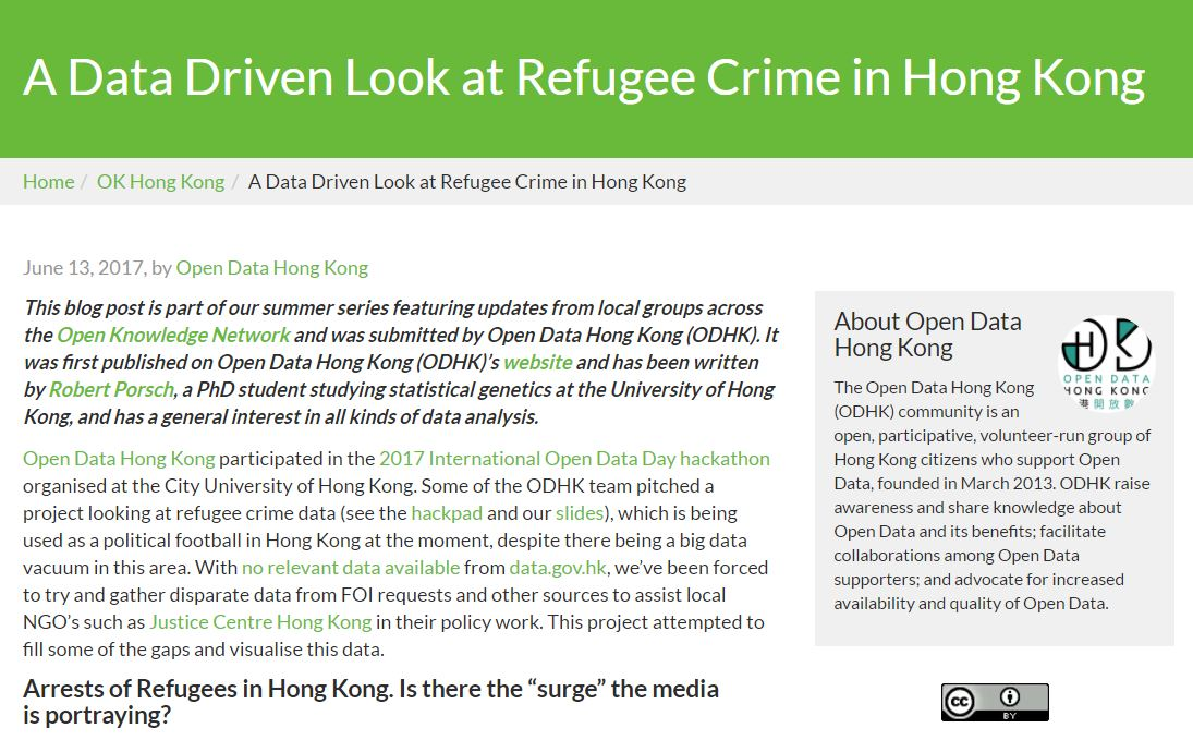 Data Driven Look at Refugee Crime in Hong Kong - 14Jun2017