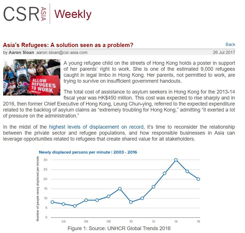 CSR Asia - Asia's Refugees A solution seen as a problem